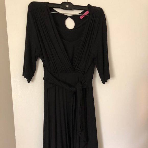 Maternal America Dresses & Skirts - Maternal America Tie front jersey dress
